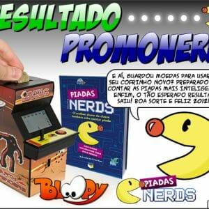 Resultado #PromoNerd: Cofrinho e Livro PiadasNerds - Bloopy Store e @PiadasNerds