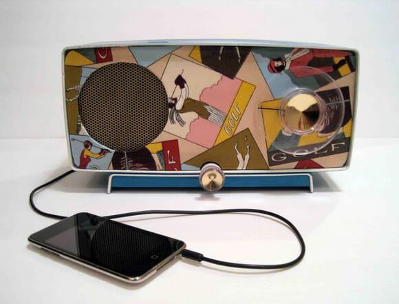 Speakers vintage para seu iPhone e iPod
