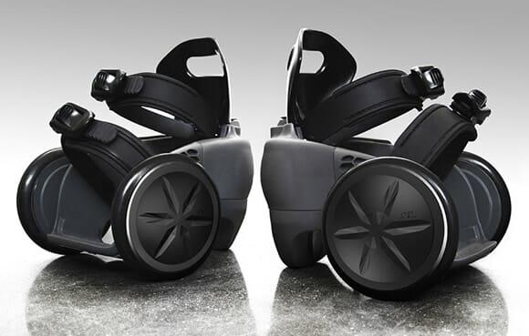 """Conhece os spnKiX? São patins eletrônicos feitos para """"motorizar"""" os seres humanos! (vídeo)"""