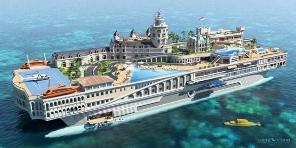 Projeto de Iate ousado leva um pedaço da pista de Mônaco de F1 para o alto mar