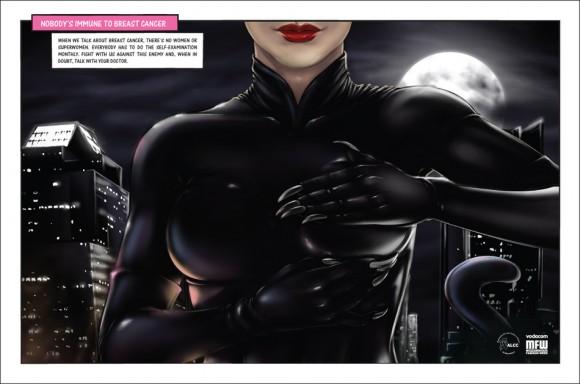 Super-heroínas combatem o câncer de mama