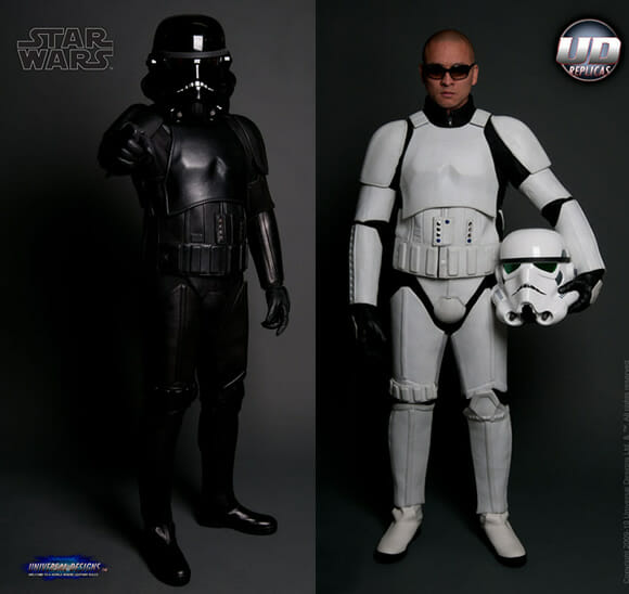 Traje Stormtrooper para motociclistas