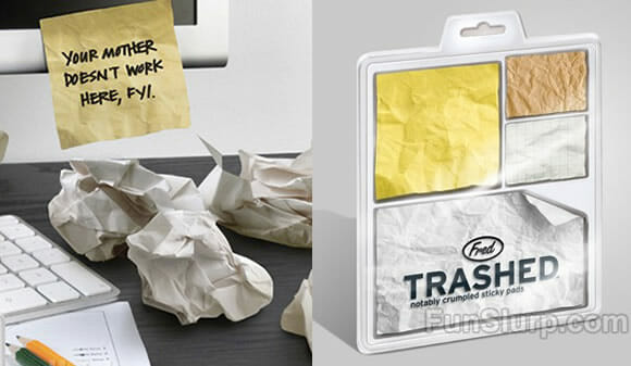 Trashed Sticky Notes: Notas autoadesivas com aspecto amassado