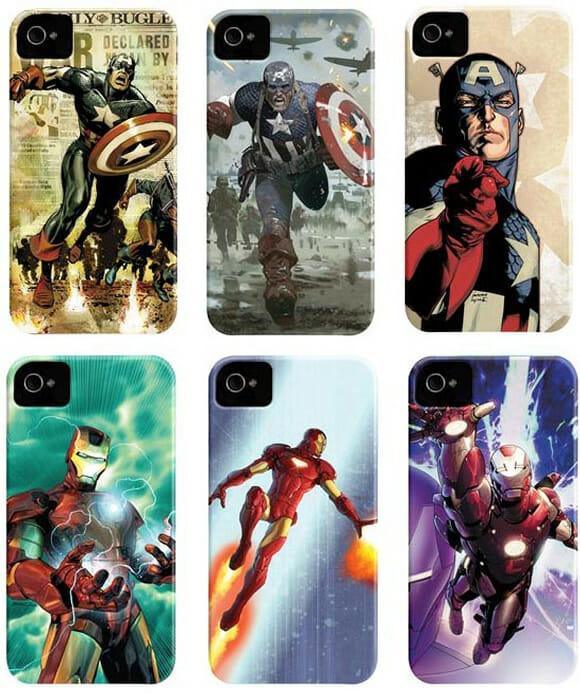 Capas para iPhone 4 e 4S estampadas com os heróis da Marvel