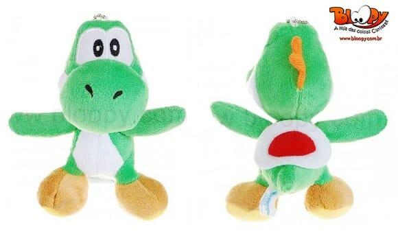 Chaveiro do Yoshi de pelúcia para fãs de Super Mario!