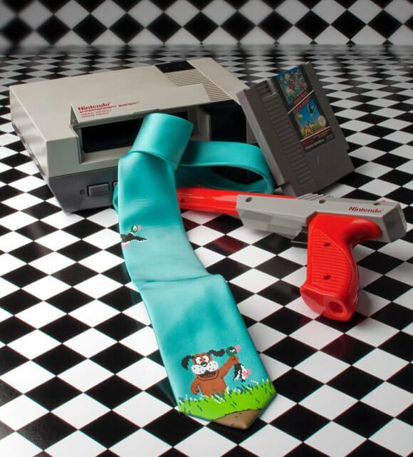 Gravata Duck Hunt para gamers e geeks