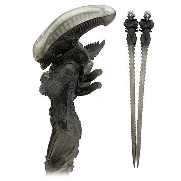 Hashis do Alien esculpidos à mão