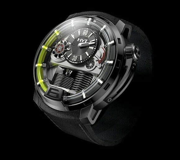 """Relógio de pulso conceito utiliza """"líquido"""" para exibir as horas (vídeo)"""