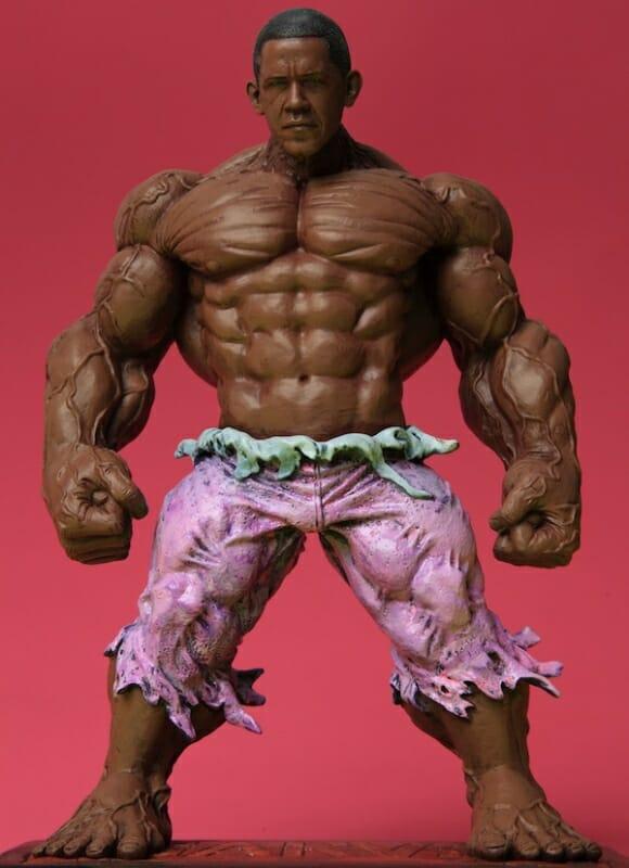 "FOTOFUN - O Incrível ""Obama"" Hulk"