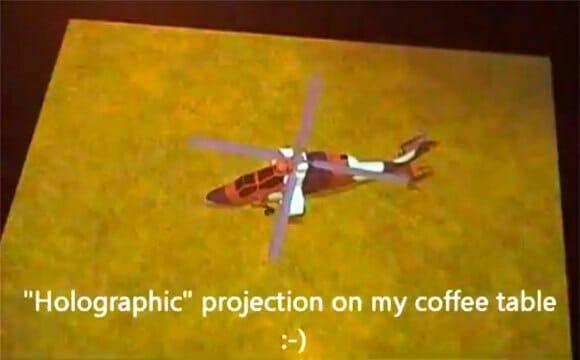 """Hack para Kinect permite criarmos incríveis imagens holográficas """"3D"""" em games (vídeo)"""