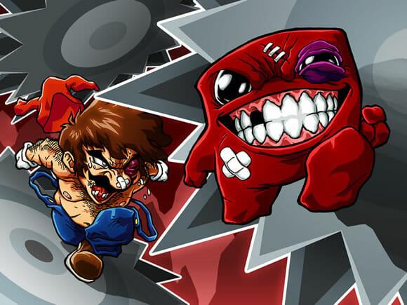 Ilustrações mostram Super Mario lutando contra todo mundo
