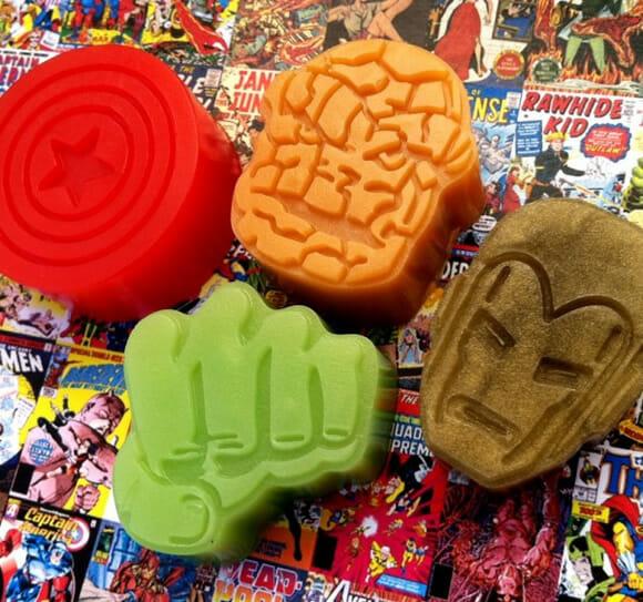 Sabonetes dos heróis da Marvel. #TODOSQUER mas ninguém tem coragem de usar!