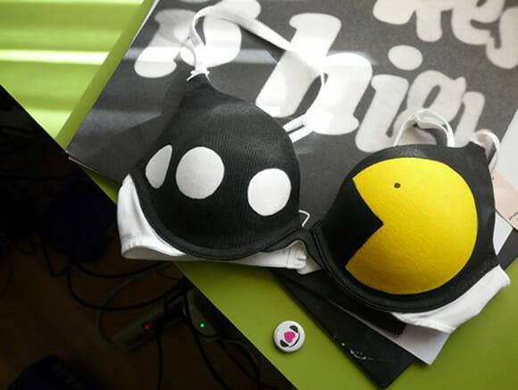 Moda geek: Sutiã Pac-Man