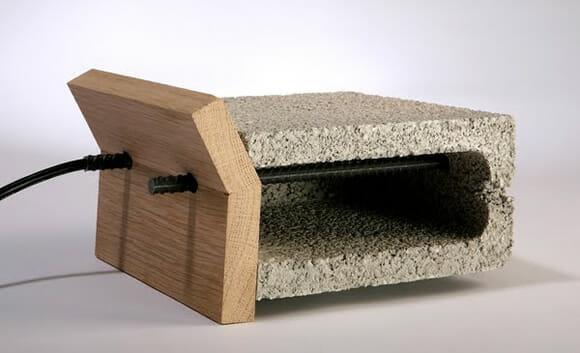 Pita bread toaster - Uma torradeira tabajara feita com bloco de cimento