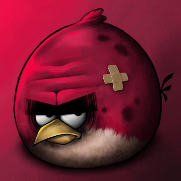 Como ficam os personagens de Angry Birds no final do jogo
