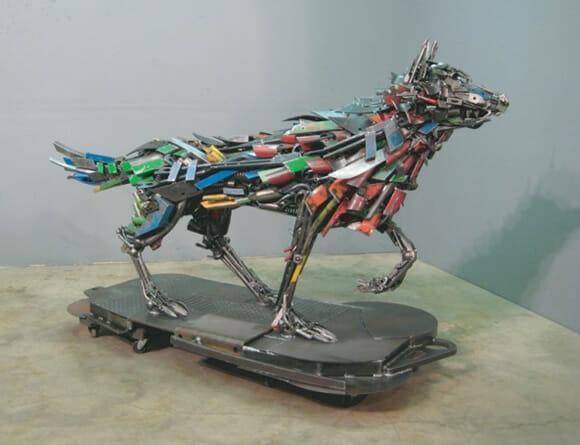 Esculturas incríveis de animais feitas de sucata