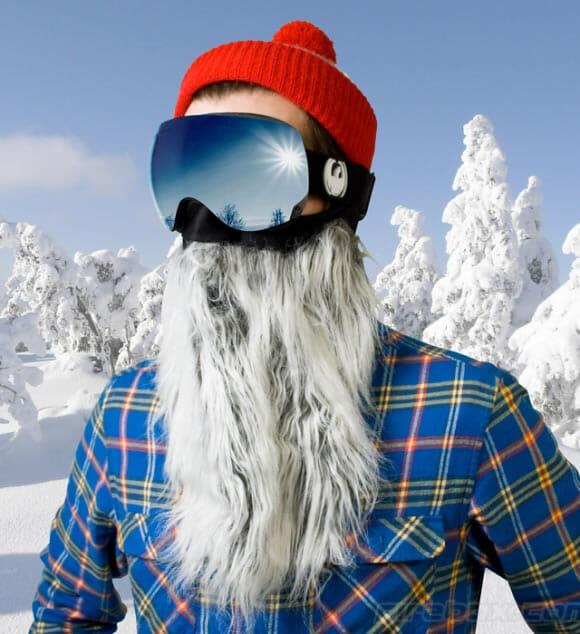 Novo óculos para Esquiadores deixa qualquer um com a cara do velho Noel