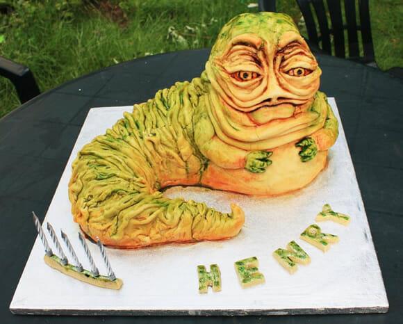Bolo de aniversário incrivelmente repugnante do Jabba the Hutt