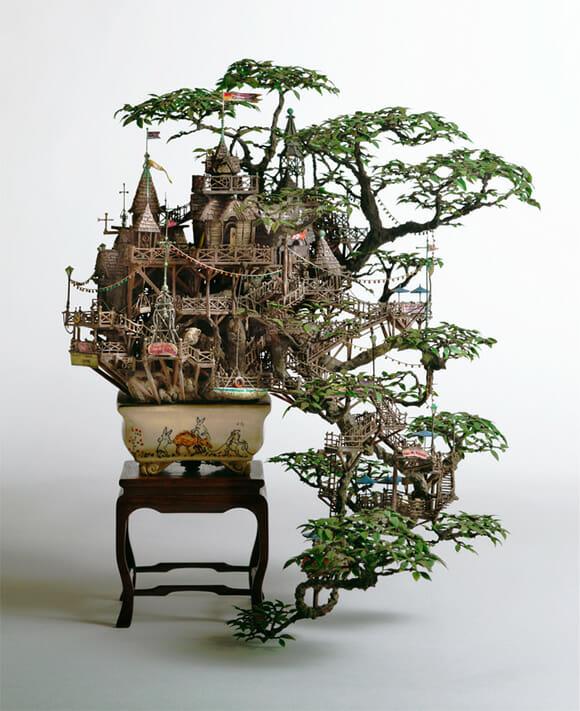 Casas Na rvore Em Miniatura Feitas Bonsais ROCKN TECH