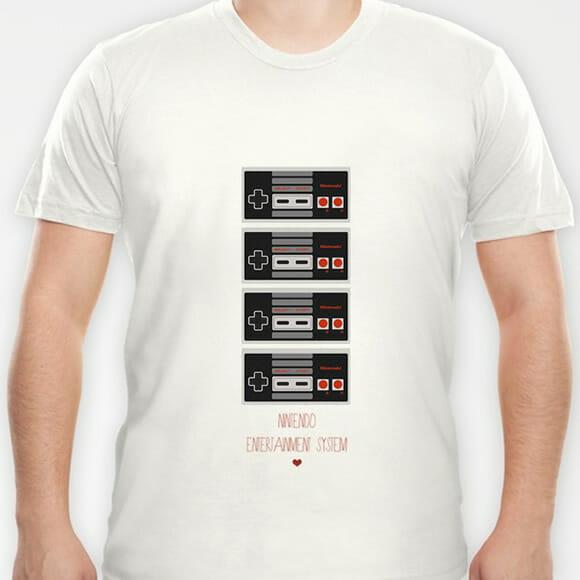 Camiseta com estampa do controle do NES