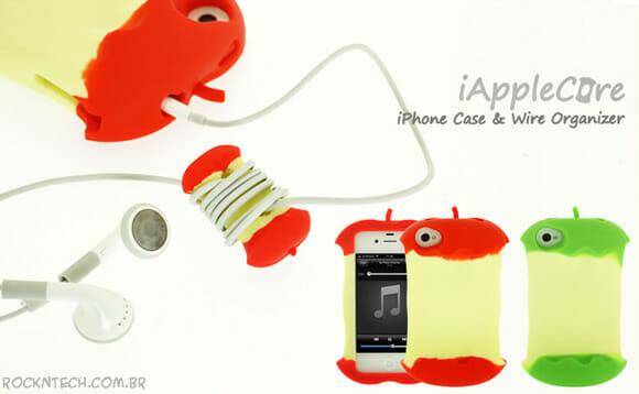 Capa em forma de maçã para o smartphone da maçã