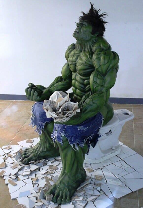 FOTOFUN - Quando o Incrível Hulk faz o Nº 2