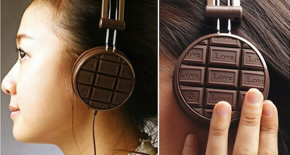 Headphone para viciados em música e chocolate