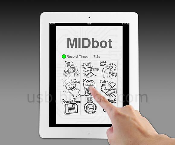 iDroid: Um robô de brinquedo controlado por iPhones, iPods Touch ou iPads
