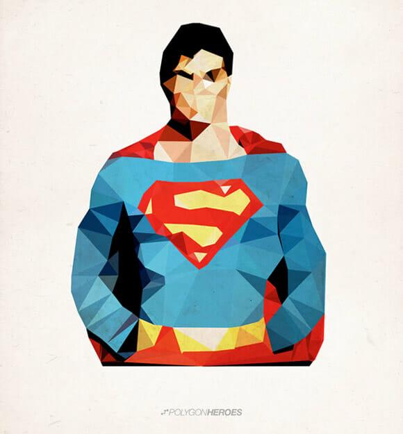 """Polygon Heroes: Coleção de super-heróis """"geométricos"""""""