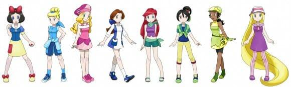 Princesas da Disney como Pokémons