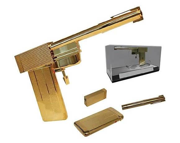 Réplica em escala real da pistola Golden Gun do filme 007