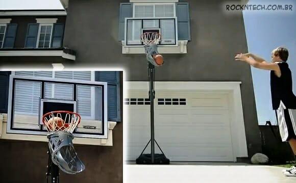 Acessório criativo para cestas de basquete facilita a vida de jogadores nos treinos (vídeo)