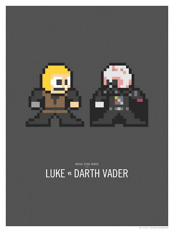 Mega Star Wars Duels: Duelos da saga Star Wars em 8-bits