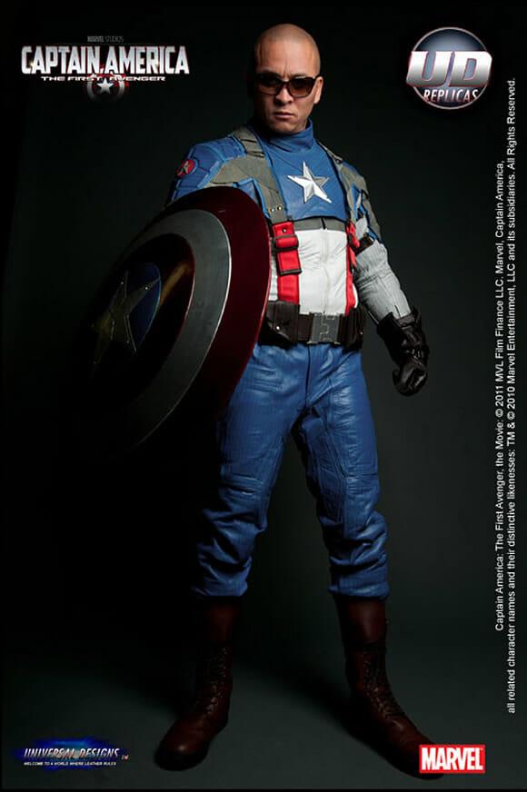 Traje oficial do filme Capitão América para motoqueiros