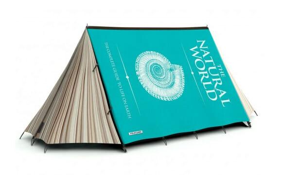 Barraca de Camping que imita um livro é perfeita para quem gosta de ler e viajar