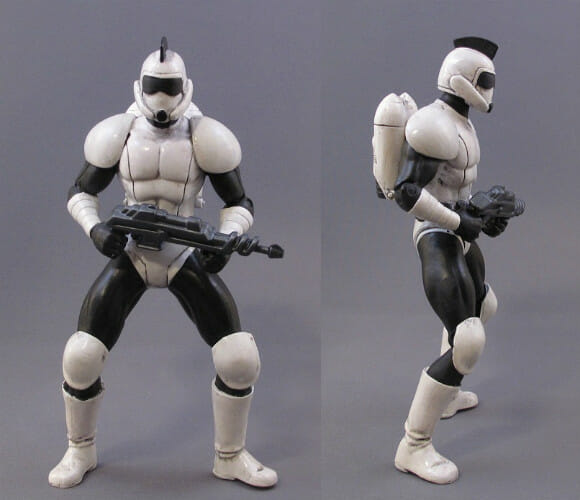Action figures do Star Wars estilo retrô