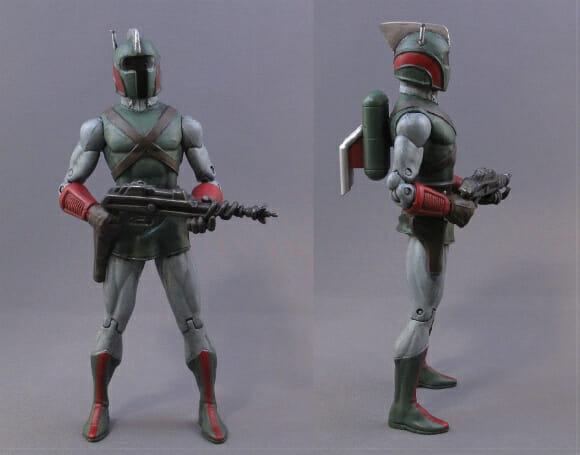 Action figures do Star Wars estilo retrô