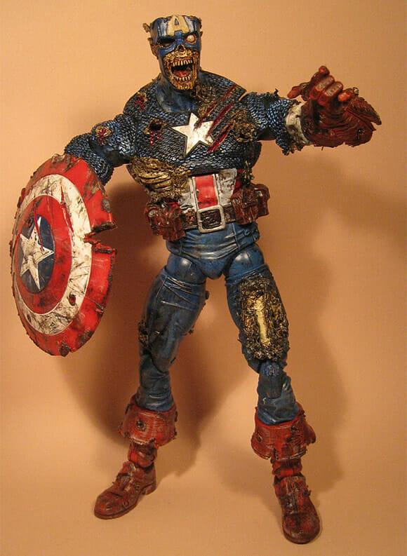 Action figure Zumbi do Capitão América