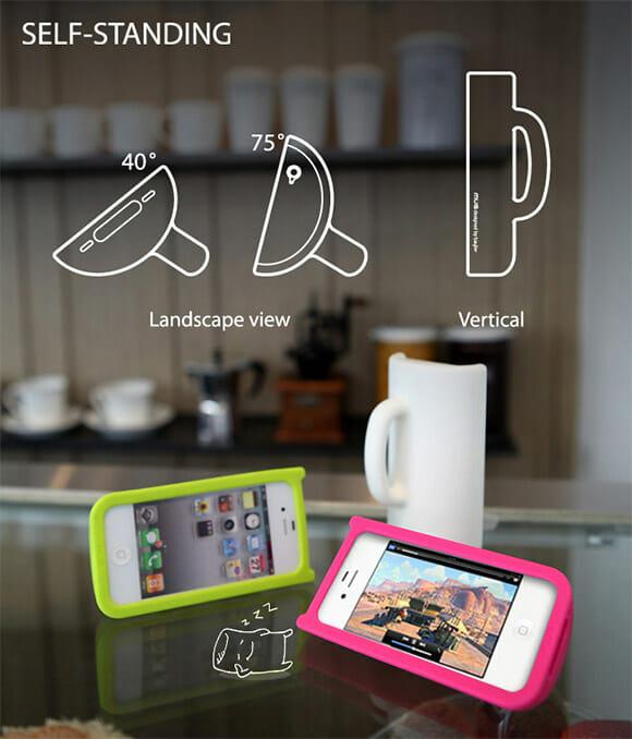 Capa transforma iPhone em caneca