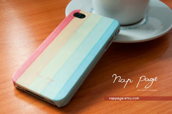 Capas para iPhone feitas de guardanapos de papel