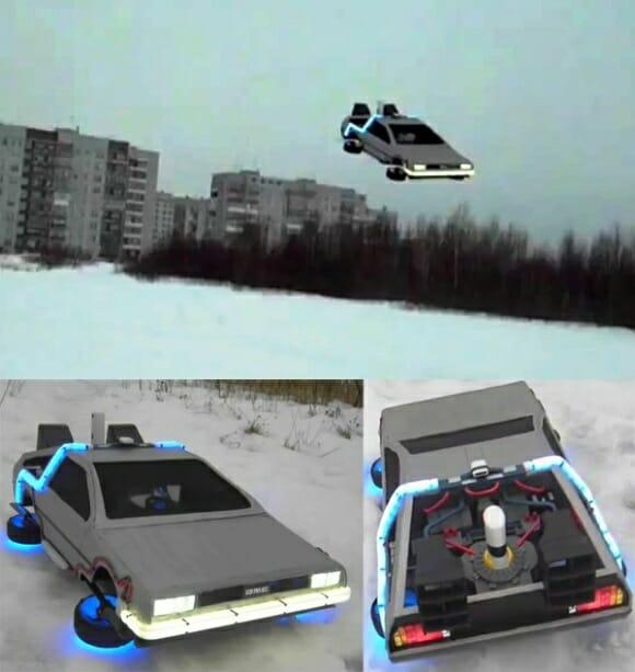 Homem constrói DeLorean de controle remoto que voa de verdade! (vídeo)