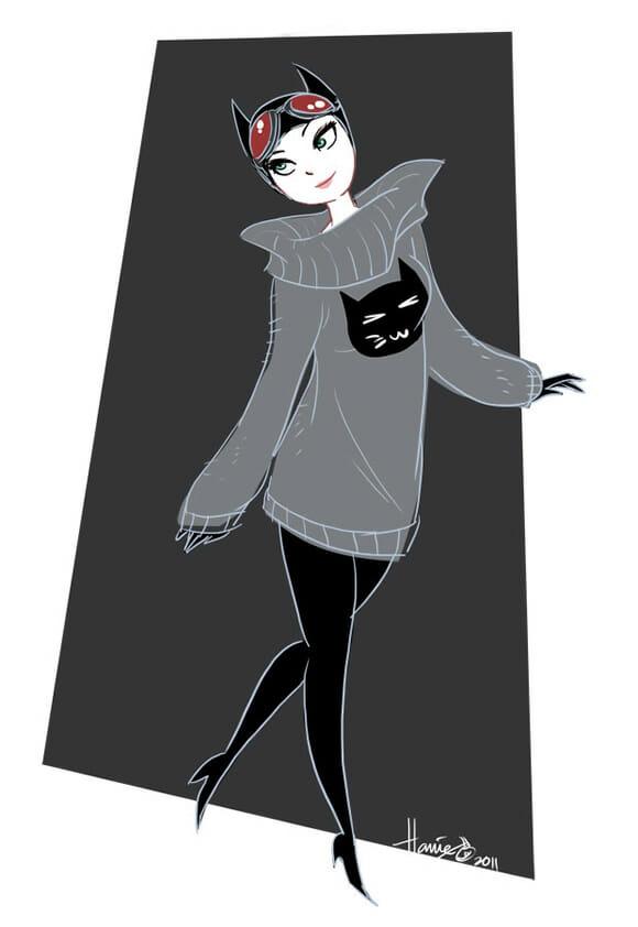 Fanart do dia: Super-heroínas e vilãs vestidas para o Inverno