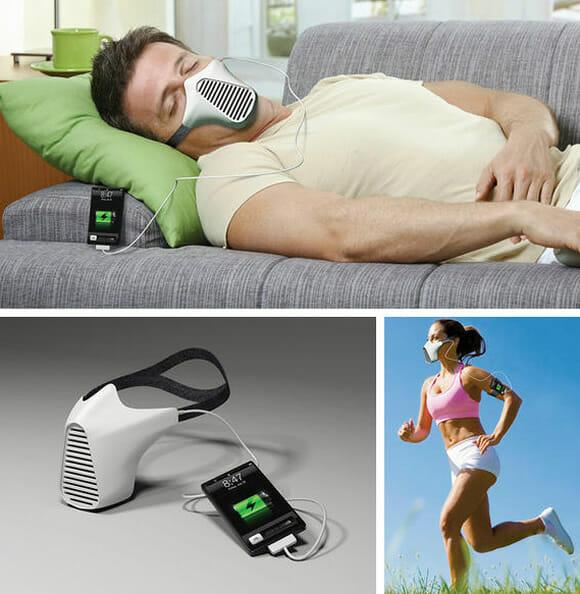 Recarregue seu smartphone com o poder de sua respiração