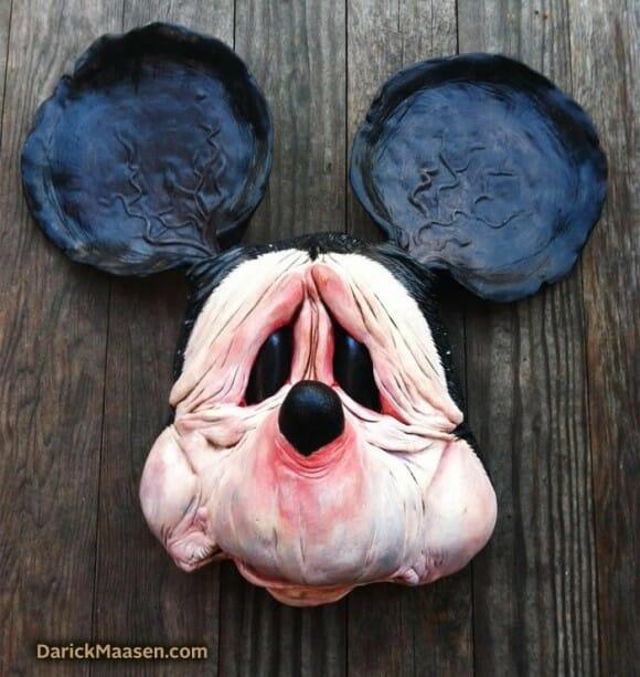 O bom e VELHO Mickey Mouse: Artista cria escultura do personagem cheio de rugas