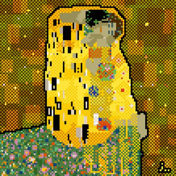 Obras de arte famosas em pixels