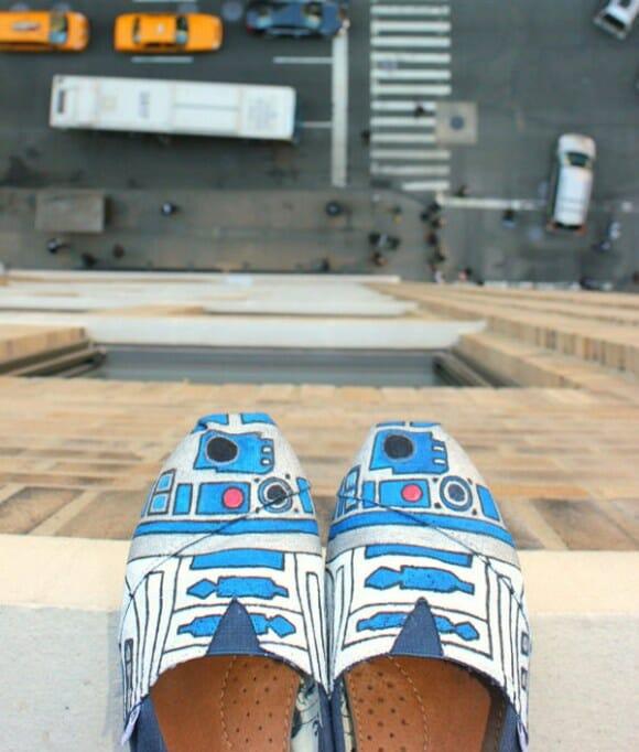 Moda geek: Sapatos do R2-D2