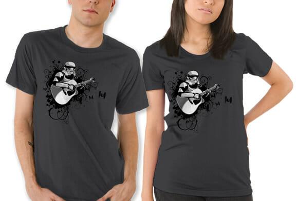 Objeto de desejo do dia: Camiseta Stormtrooper tocando violão