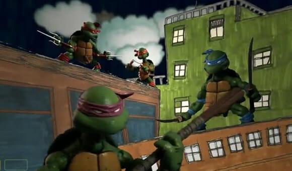 VIDEOFUN - Abertura das Tartarugas Ninjas recriada em Stop Motion