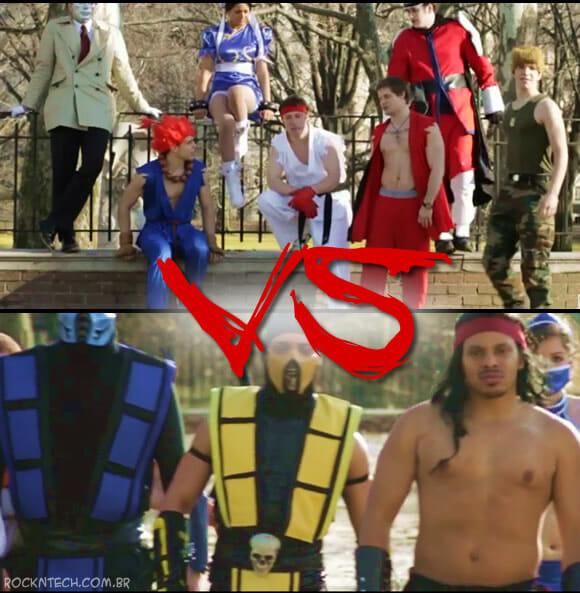 VIDEOFUN - Batalha ÉPICA de dança entre Street Fighter e Mortal Kombat