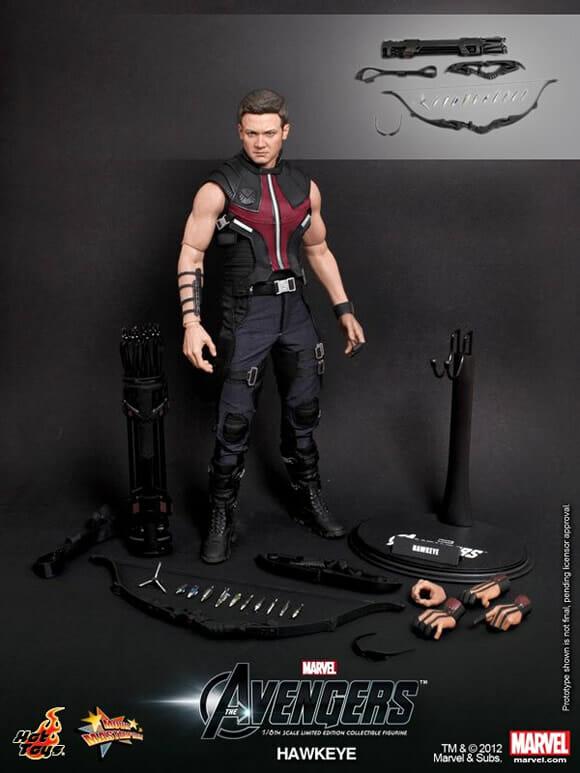 Novo action figure Hawkeye de Os Vingadores da Hot Toys é incrivelmente perfeito!